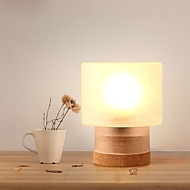 60 Modern/Comtemporary Contemporary Artistic Simple Creative Table Lamp , Feature for Eye Protection , with Wood Use On/Off Switch Switch