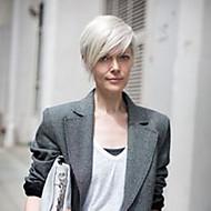 Человеческие волосы без парики Натуральные волосы Горячая распродажа / Боковая часть Короткие Машинное плетение Парик Жен.