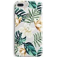 billiga Mobil cases & Skärmskydd-fodral Till Apple iPhone X iPhone 8 Ultratunt Genomskinlig Mönster Skal Blomma Träd Mjukt TPU för iPhone 8 Plus iPhone 8 iPhone SE/5s