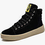 cheap Extended-Size Shoes-Men's Shoes Fur Winter Fall Moccasin Sneakers Lace-up for Casual Party & Evening Black Gray Red