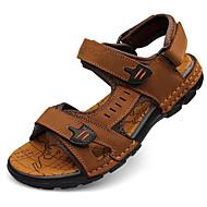 Masculino sapatos Pele Napa Pele Verão Solados com Luzes Sandálias Para Casual Preto Marron