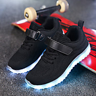cheap Boys' Shoes-Boys' Shoes Fabric Net Winter Fall Light Up Shoes Comfort Sneakers LED Magic Tape for Casual Outdoor Black Dark Blue Gray Pink