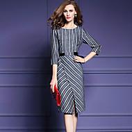 Žene Veći konfekcijski brojevi Slim Korice Haljina - Print