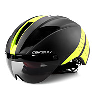 cheap Sports & Outdoor Super Clearance-CAIRBULL Adults Bike Helmet with Goggle Aero Helmet 11 Vents CE EN 1077 Impact Resistant, Lightweight, Ventilation EPS, PC Sports Mountain Bike / MTB / Road Cycling / Riding - Yellow / Black / Black