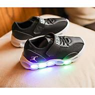 Para Meninos sapatos Couro Ecológico Outono Inverno Conforto Tênis Para Casual Branco Preto Rosa claro
