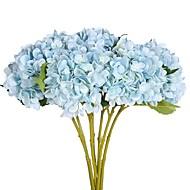 2 Ramo Poliéster Hortênsia Flor de Mesa Flores artificiais
