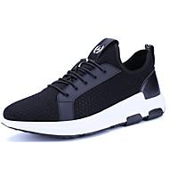 Masculino sapatos Couro Ecológico Primavera Outono Conforto Tênis Caminhada Para Casual Preto Azul Escuro