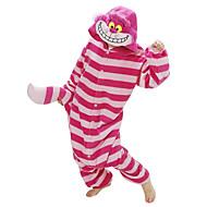 Voksne Kigurumi-pyjamas Kat / Chesire Cat Onesie-pyjamas Kostume Polarfleece Rød Cosplay Til Nattøj Med Dyr Tegneserie Halloween Festival / Højtider