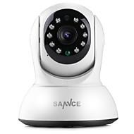 billige IP-kameraer-SANNCE 1.0 MP Innendørs with IR-kutt 64(Dag Nat Bevegelsessensor Fjernadgang Plug and play Wi-Fi Beskyttet Setup IR-klip) IP Camera