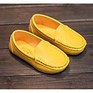 tanie Obuwie dziewczęce-Dla dziewczynek Buty Derma Wiosna Jesień Comfort Mokasyny i pantofle Na Casual White Black Yellow Niebieski Różowy