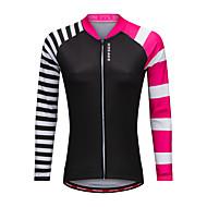 WOSAWE Žene Dugih rukava Biciklistička majica - Crn Bicikl Biciklistička majica Poliester