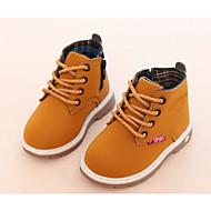 Poikien kengät Synteettinen mikrokuitu PU Syksy Talvi Comfort Maiharit Bootsit Käyttötarkoitus Kausaliteetti Musta Vaalean keltainen