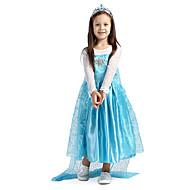 Cosplay Nošnje Princeza Fairytale Filmski Cosplay Plav Haljina Halloween Božić New Year Dijete Šifon