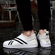 baratos Sapatos Masculinos-Homens Couro Ecológico Primavera / Outono Conforto Tênis Preto / Bege / Cinzento