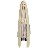 Naisten Synteettiset peruukit Suojuksettomat Hyvin pitkä Kinky Straight Blonde Doll Wig Rooliasu peruukki