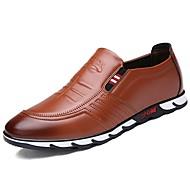 Masculino sapatos Borracha Outono Conforto Oxfords Para Preto Marron Azul
