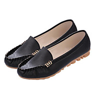 Women's Shoes Nappa Leather Spring Summer Moccasin Flats For Casual Blushing Pink Green Black White