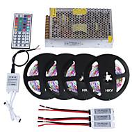 1 σύνολο hkv® 20m 1200d led led 3528 rgb dc12v ip65 44key ir τηλεχειριστήριο 10a μετασχηματιστής ισχύος ac110-240v