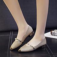 Naiset Kengät Paljetti Kiiltonahka Kevät Syksy Comfort Valopohjat Tasapohjakengät Tasapohja Pointed Toe Tekojalokivi Paljeteilla