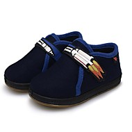 tanie Obuwie chłopięce-Dla chłopców Buty Wełna Zima Wulkanizowane buty Buty do nauki chodzenia Comfort Mokasyny i pantofle Tasiemka na Casual Dark Blue