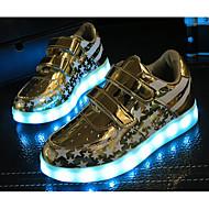 男の子 靴 レザーレット 秋 冬 コンフォートシューズ スニーカー 用途 カジュアル ゴールド シルバー