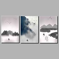 cheap Prints-Stretched Canvas Print Classic, Three Panels Canvas Horizontal Panoramic Print Wall Decor Home Decoration