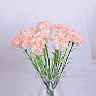 1 Gren Polyester Nellik Bordblomst Kunstige blomster