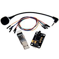 geeetech reconhecimento de voz kit módulo de microfone + USB para módulo RS232 TTL + jumper