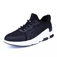 halpa -Miehet kengät Tyll Kevät Syksy Comfort Urheilukengät Kävely Solmittavat Käyttötarkoitus Kausaliteetti Musta