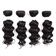 お買い得  ヘアエクステンション-ブラジリアンヘア クラシック 人間の髪織り 8個/パック 高品質 日常