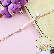 Personalized Gift Bracelets Titanium Steel Rhinestones