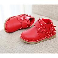 Para Meninas sapatos Micofibra Sintética PU Outono Inverno Conforto Botas Para Casual Vermelho Rosa claro