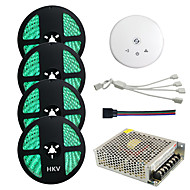 1PSet HKV® 20M(4x5m) RGB Waterproof LED light Strip SMD 5050 RGBW 1200LED LED Strip Transformer UFO WiFi Controller  20A Power Supply Set Kit