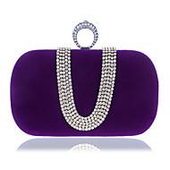 baratos Clutches & Bolsas de Noite-Mulheres Bolsas Poliéster Bolsa de Mão Botões Azul / Preto / Roxo