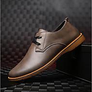 Masculino sapatos Pele Primavera Outono Conforto Oxfords Para Casual Preto Cinzento Marron