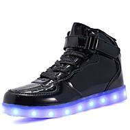 tanie Obuwie dziewczęce-Dla dziewczynek Buty Materiał do wyboru Skóra patentowa Zima Jesień Świecące buty Comfort Tenisówki Spacery LED Haczyk i pętelka Szurowane