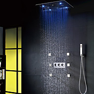 cheap Shower Faucets-Shower Faucet - LED Modern / Contemporary Chrome Shower System Ceramic Valve