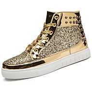 cheap Men's Sneakers-Men's Rubber Spring / Fall Comfort Sneakers Gold / Black / Silver