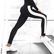Žene Visoki struk Šivena čipka Legging Jednobojni
