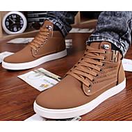 baratos Sapatos Masculinos-Homens Couro Ecológico Primavera / Outono Conforto Botas Preto / Amarelo / Verde