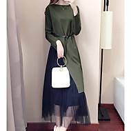 女性用 お出かけ キュート コットン セット ソリッド スカート
