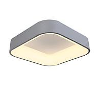 45cm firkantet 36w moderne stil enkelhet ledet taklampe metall flush mount stue soverom