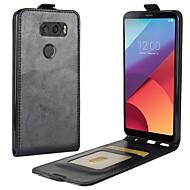 billiga Mobil cases & Skärmskydd-fodral Till LG / LG K10 V30 / K10 (2017) Korthållare / Lucka Fodral Enfärgad Hårt PU läder för LG V30 / LG Q6 / LG K10 (2017)