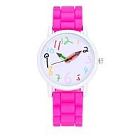 Mulheres Relógio de Moda Relógio Elegante Relógio de Pulso Chinês Quartzo Silicone Banda Vintage Casual Preta Branco Azul Vermelho Rosa