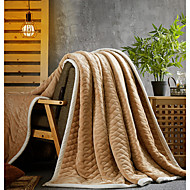 Superweich,Einfarbig Solide Polyester/Polyamid Decken