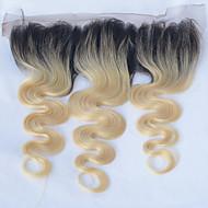 저렴한 -패션 빠른 배송 16 인치 바디 웨이브 1b / 613 ombre 색상 13 * 4 레이스 정면 폐쇄 여성을위한 100 % 브라질 인간의 머리카락 최고의 품질의 머리카락