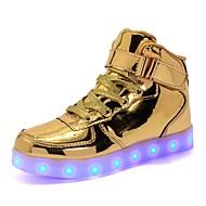baratos Sapatos de Menina-Para Meninas Sapatos Couro Ecológico Outono Tênis com LED Tênis para Dourado / Prata / Rosa claro / Festas & Noite