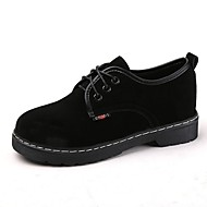 cheap Women's Oxfords-Women's Shoes Suede Winter Comfort Oxfords Round Toe for Black Brown