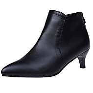 Women's Shoes PU Spring Bootie Boots Pointed Toe Booties / Ankle Boots Black