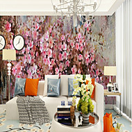 billige Tapet-Blomstret Art Deco 3D Hjem Dekor Moderne كلاسيكي Rustikk Tapetsering, Lerret Materiale selvklebende nødvendig Veggmaleri, Tapet